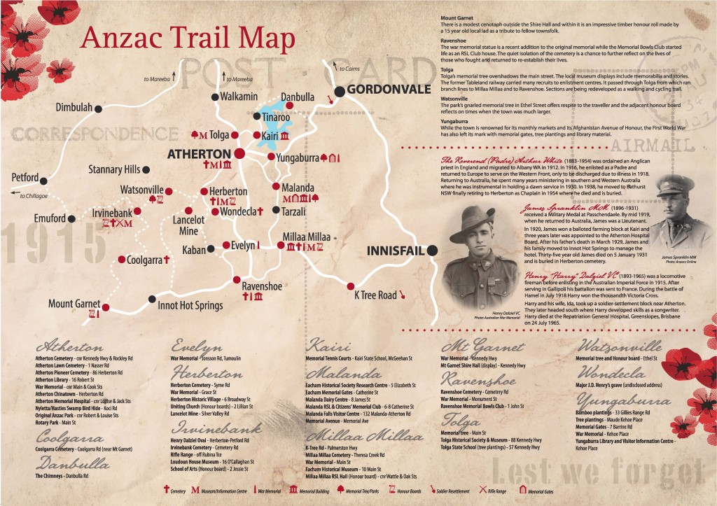 Anzac Trail Brochure - Map - Tablelands Regional Council